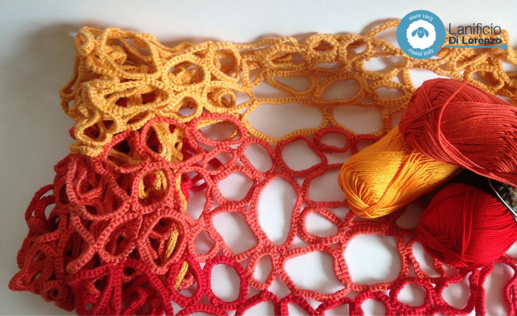 maglia crochet traforata