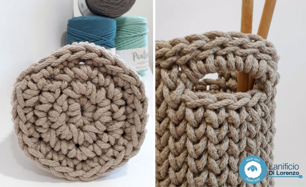 vaso crochet lanificio di lorenzo