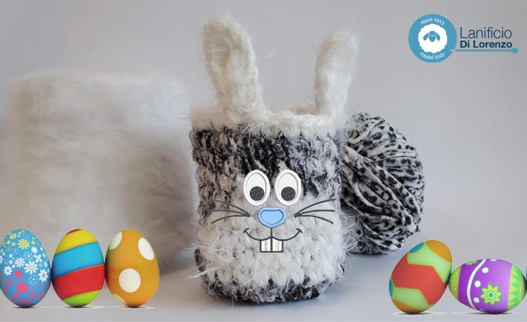 Porta ovetti coniglietto di Pasqua crochet