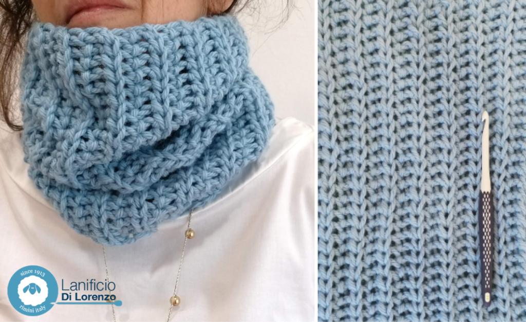 collo crochet wool