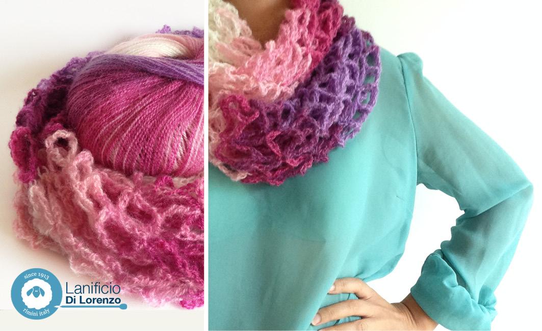 modello collo crochet
