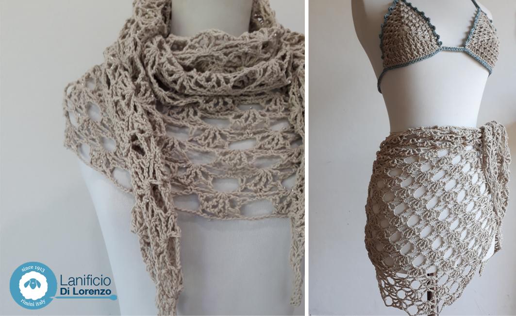 stola crochet traforata con Sunset Mondial